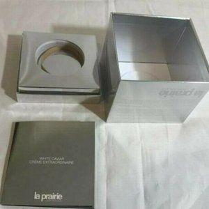 La Prairie Switzerland Empty Gift Box  Silver